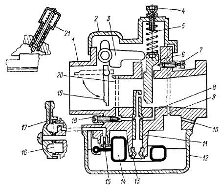 Схема карбюратора К-60В