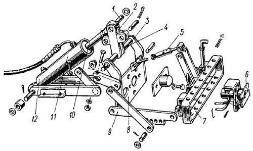 Схема действия шестеренного